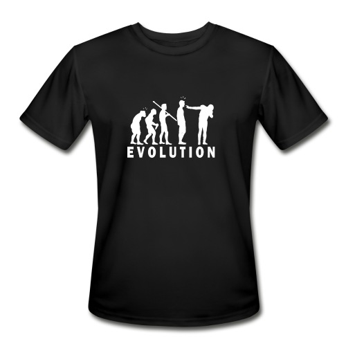 funny Evolution Dab  - Men's Moisture Wicking Performance T-Shirt
