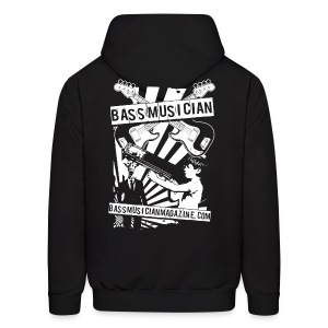 [mens] Bad-Ass Bass Hooded Sweat-Shirt - Signature Bass Musician Magazine Design - Men's Hoodie