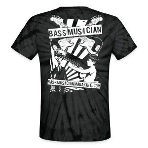 [unisex] Bad-Ass Bass T-Shirt in Tie-Dye [classic cut] - Signature Bass Musician Magazine Design - Unisex Tie Dye T-Shirt