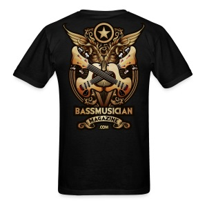 [mens] Bass Glory T-Shirt in Black [standard fit] - Signature Bass Musician Magazine Design - Men's T-Shirt