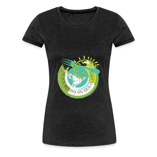 Peace Begins On Our Plates Women's T-Shirt - Women's Premium T-Shirt