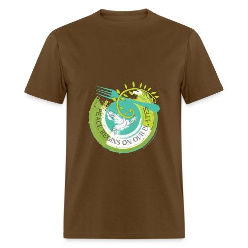 Peace Begins On Our Plates Men's T-Shirt - Men's T-Shirt