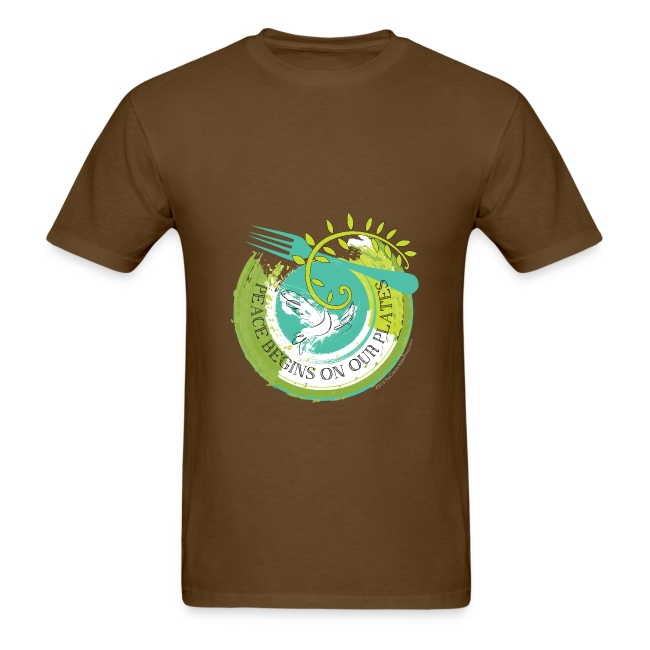 Peace Begins On Our Plates Men's T-Shirt