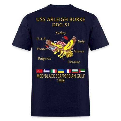 USS ARLEIGH BURKE 1998 CRUISE SHIRT  - Men's T-Shirt