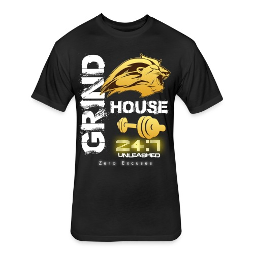 GRIND HOUSE MEN'S TEE - Fitted Cotton/Poly T-Shirt by Next Level