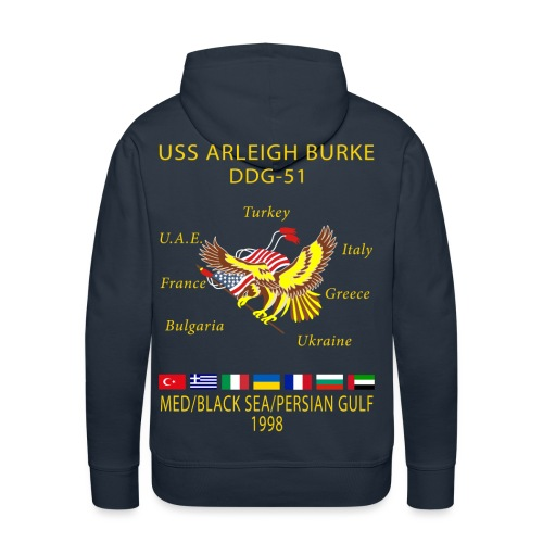 USS ARLEIGH BURKE 1998 CRUISE HOODIE - Men's Premium Hoodie