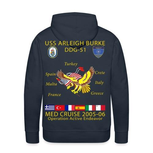 USS ARLEIGH BURKE 2005-06 CRUISE HOODIE - Men's Premium Hoodie