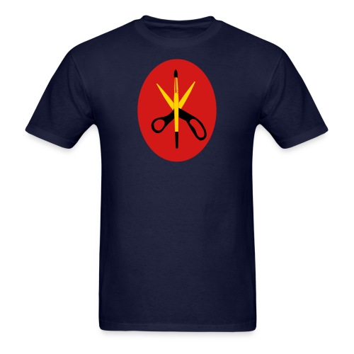 Scissors and Brush Gold - Men's T-Shirt