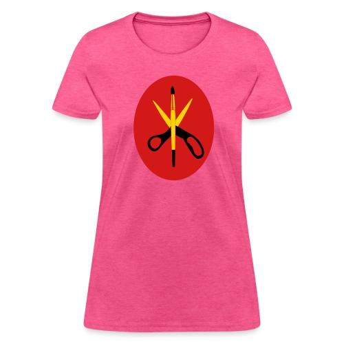 Scissors and Brush Gold - Women's T-Shirt