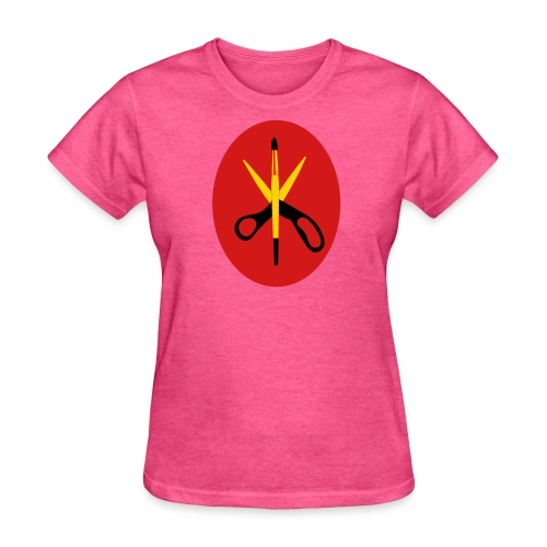 Scissors and Brush Gold - Women's T-Shirt