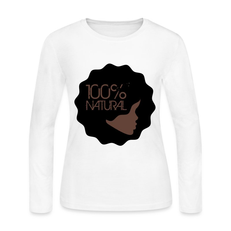 100% Natural  - Women's Long Sleeve Jersey T-Shirt