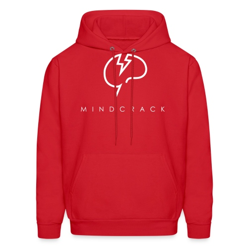 Men's white Mindcrack logo Hoody [Front] - Men's Hoodie