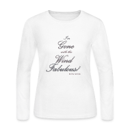 Long Sleeve Shirts ~ Women's Long Sleeve Jersey T-Shirt ~ FABULOUS WHITE II