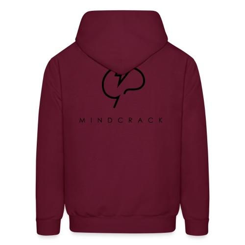 Men's black Mindcrack logo Hoody [Rear] - Men's Hoodie