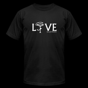 ILLUMINATI Live Love - Men's T-Shirt by American Apparel