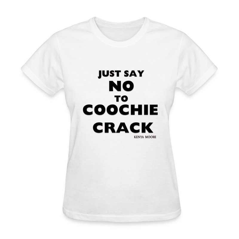 JUST SAY NO WHITE  - Women's T-Shirt