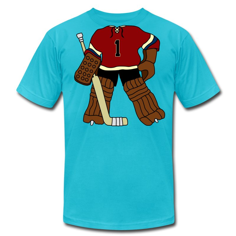 Vintage hockey goalie t shirt spreadshirt for Retro nhl t shirts