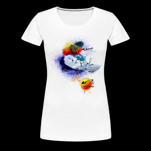 U7 Waves N Sunshine (Double Sided Design) - Women's Premium T-Shirt
