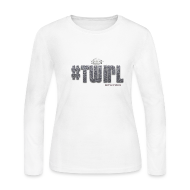 Long Sleeve Shirts ~ Women's Long Sleeve Jersey T-Shirt ~ TWIRL WHITE LS