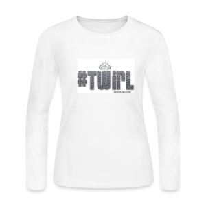 TWIRL WHITE LS - Women's Long Sleeve Jersey T-Shirt