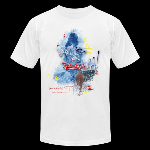 Life's A Beach (U7 Splash) Double Sided Design - Men's Fine Jersey T-Shirt