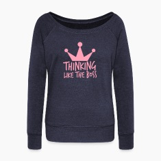 THINKING like the BOSS with royal crown Long Sleeve Shirts