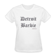 T-Shirts ~ Women's T-Shirt ~ DETROIT BARBIE SILVER