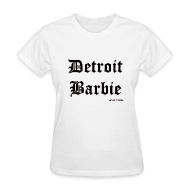 T-Shirts ~ Women's T-Shirt ~ DETROIT BARBIE BLACK
