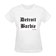 Women's T-Shirts ~ Women's T-Shirt ~ DETROIT BARBIE BLACK