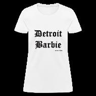 Women's T-Shirts ~ Women's T-Shirt ~ DETROIT BARBIE BLACK