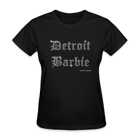 DETROIT BARBIE SILVER AND BLACK ~ 625