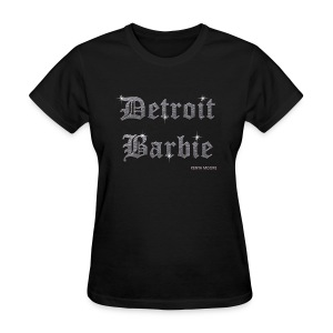 DETROIT BARBIE SILVER AND BLACK - Women's T-Shirt