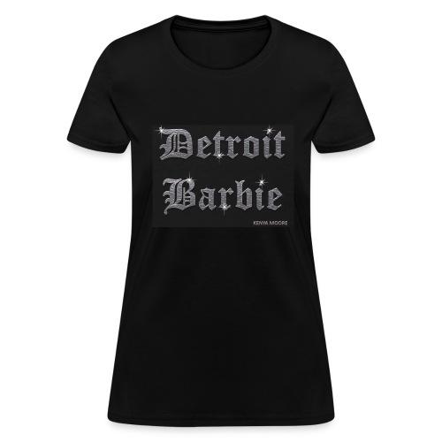 DETROIT BARBIE SILVER AND BLACK - Women's T-Shirt