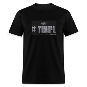 MEN BLACK TWIRL - Men's T-Shirt