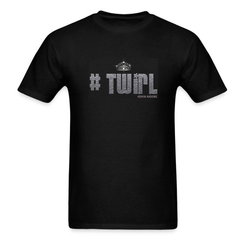MEN BLACK TWIRL - Men's T-Shirt