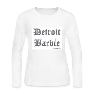 Long Sleeve Shirts ~ Women's Long Sleeve Jersey T-Shirt ~ WHITE BARBIE LS