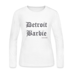 WHITE BARBIE LS - Women's Long Sleeve Jersey T-Shirt
