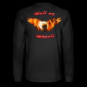 Men's LS Hanes T Hell on Wheels (Back) - Men's Long Sleeve T-Shirt