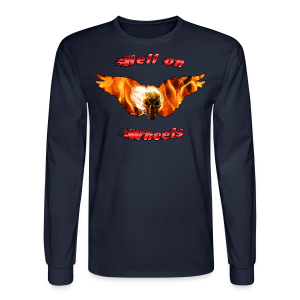 Men's LS Hanes T Hell on Wheels (Front) - Men's Long Sleeve T-Shirt