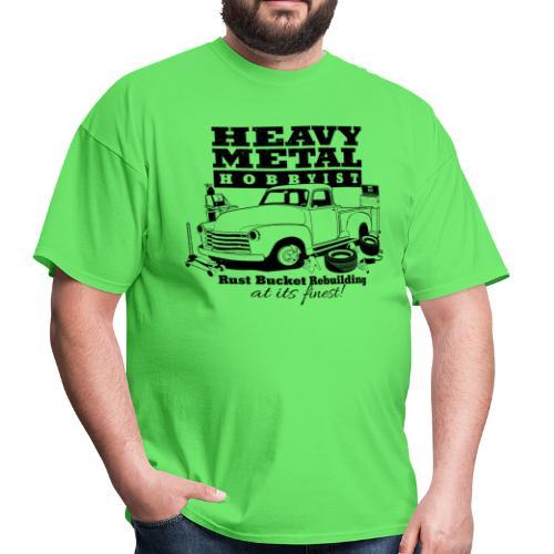 50s Heavy Metal Hobbyist Tee Black Graphic - Men's T-Shirt