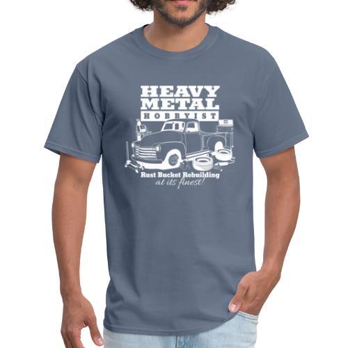 50s Heavy Metal Hobbyist Tee White Graphic - Men's T-Shirt