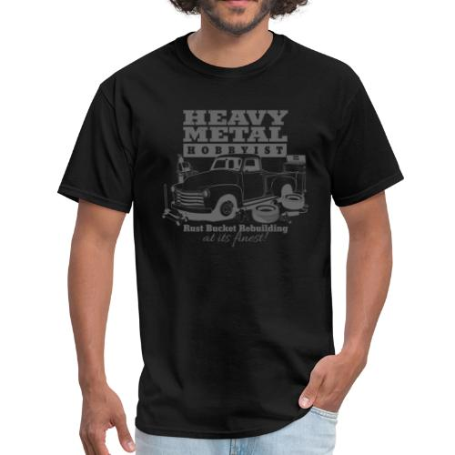 50s Heavy Metal Hobbyist Tee Gray Graphic - Men's T-Shirt