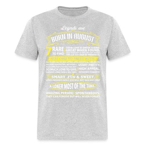 Legends August infogram Shirt heather grey - Men's T-Shirt