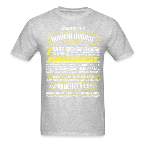 Legends August infogram Shirt heather grey - Men's T-Shirt