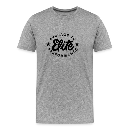 Average To Elite Star Men's T-Shirt - Men's Premium T-Shirt
