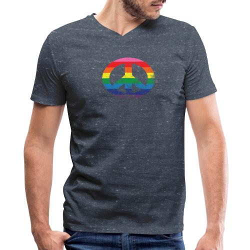 Peace and Pride - Men's V-Neck T-Shirt by Canvas