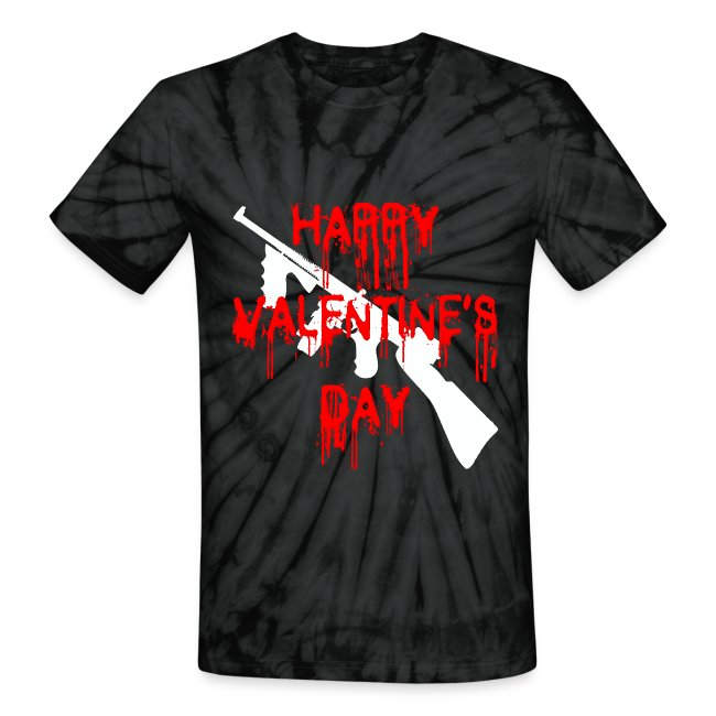 398679 Happy Valentines Day Unisex Tie Dye T Shirt