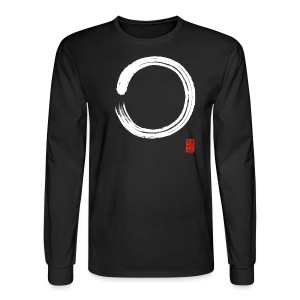 Men's White Enso Long Sleeve T-shirt - Men's Long Sleeve T-Shirt