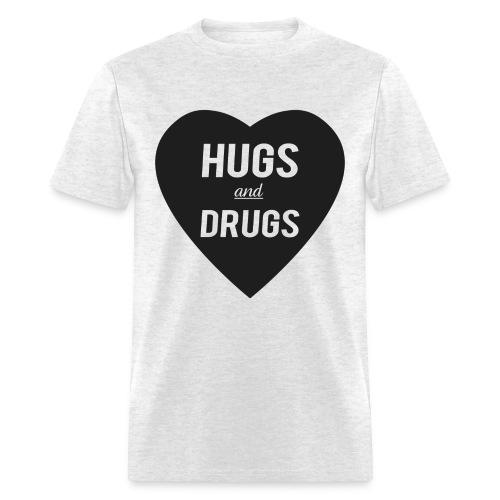 HUGS and DRUGS - Men's T-Shirt
