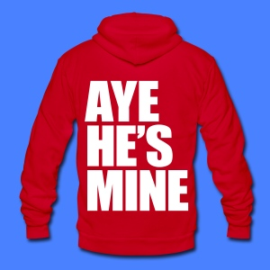 Aye He's Mine Zip Hoodies/Jackets - Unisex Fleece Zip Hoodie by American Apparel
